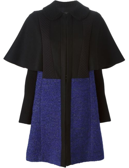 Missoni | Женское Чёрное Двухцветное Пальто С Широкими Рукавами