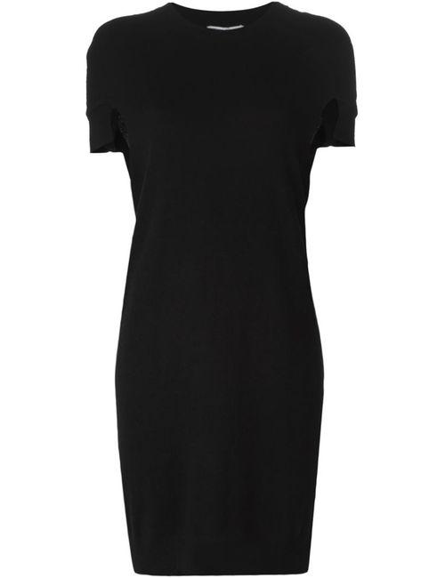 Opening Ceremony | Женское Чёрное Трикотажное Платье С Вырезными Деталями На Рукавах