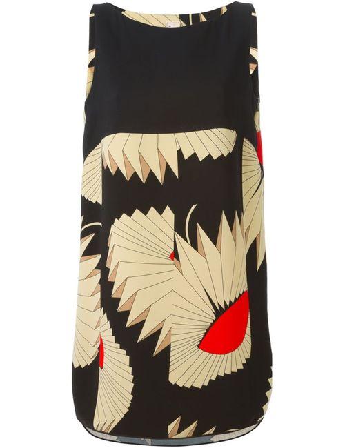 Antonio Marras | Женское Чёрное Платье Шифт С Геометрическим Узором