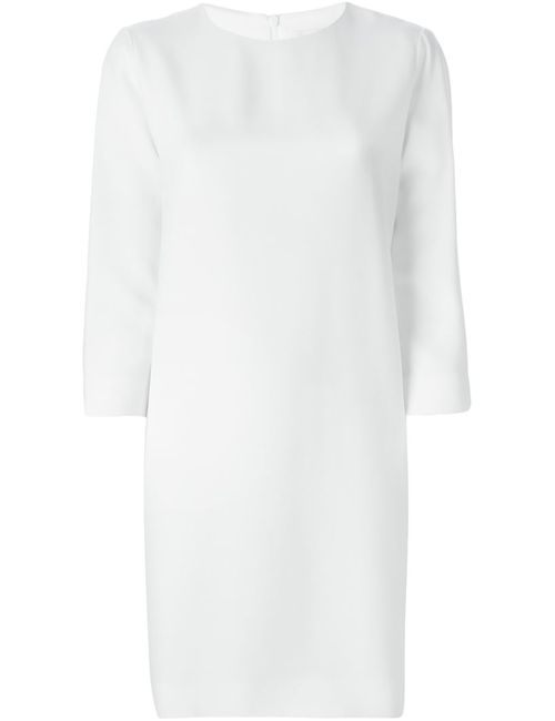 Gianluca Capannolo | Женское Белое Платье Шифт С Рукавами Три Четверти