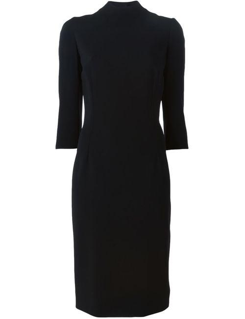 Dolce & Gabbana   Женское Чёрное Облегающее Платье Миди