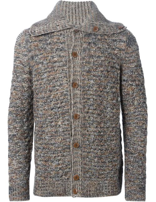 Missoni | Мужское Nude & Neutrals Cable Knit Buttoned Cardigan