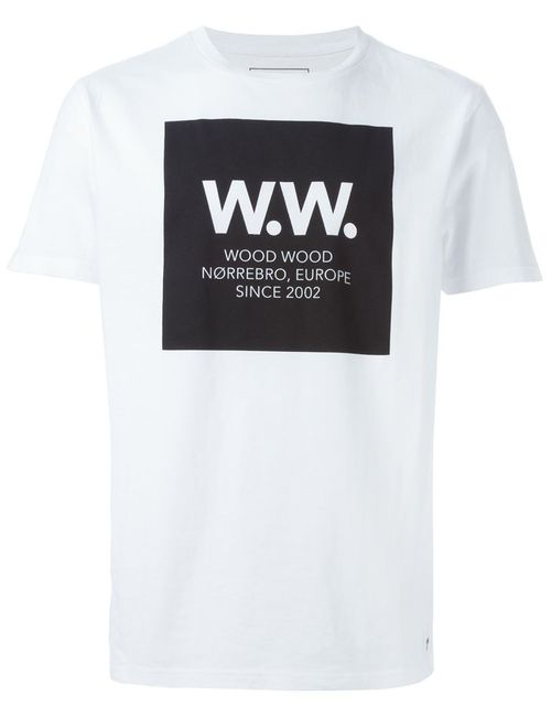 Woodwood | Мужское Белый Wood Wood Square T-Shirt