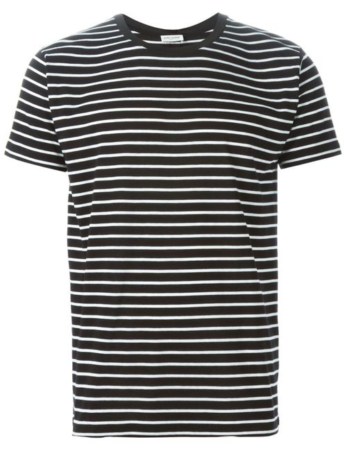 Saint Laurent | Чёрный Striped T-Shirt