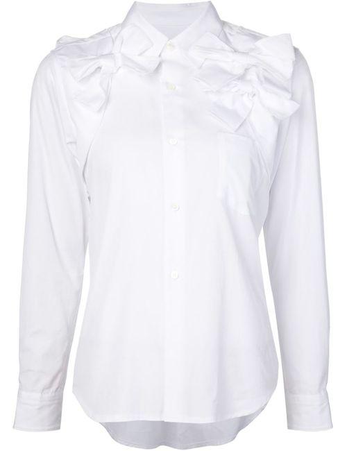 Comme Des Garcons | Женская Белая Рубашка С Отделкой В Виде Бантов