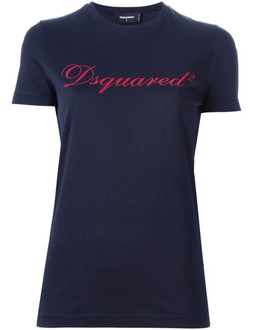 Dsquared2 | Женское Синий Logo Print T-Shirt