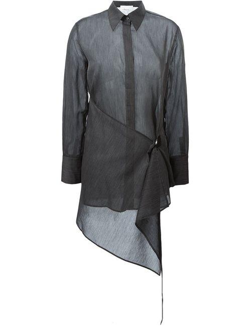 3.1 Phillip Lim | Женская Чёрная Рубашка Асимметричного Кроя