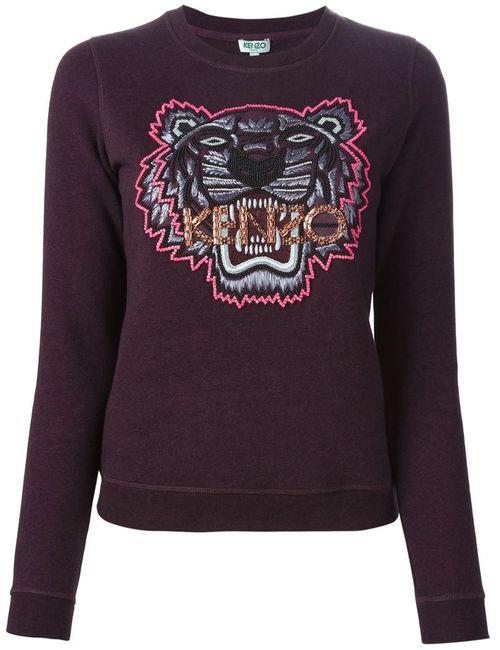 Kenzo | Женская Розовая Толстовка Tiger