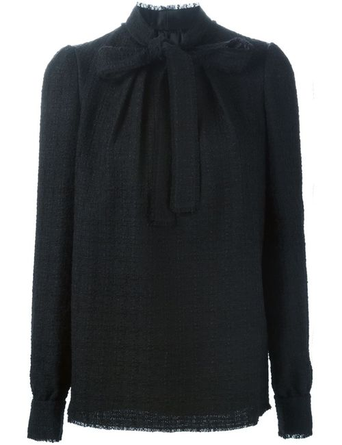 Dolce & Gabbana   Женская Чёрная Блузка С Завязкой На Мягкий Бант