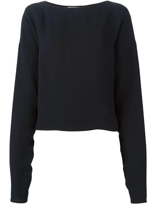 DUSAN | Женская Чёрная Блузка С Кргулым Вырезом