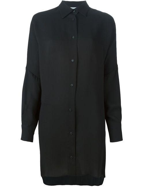 DUSAN | Женская Чёрная Классическая Удлиненная Рубашка