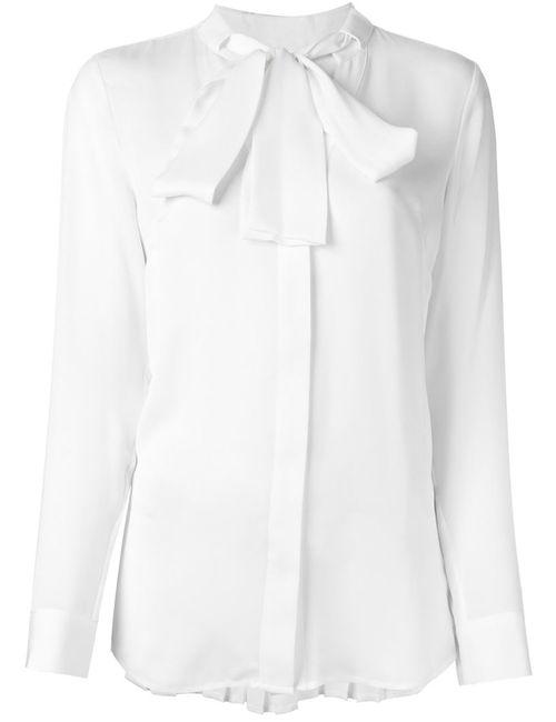 Michael Michael Kors   Женская Белая Плиссированная Рубашка С Бантом