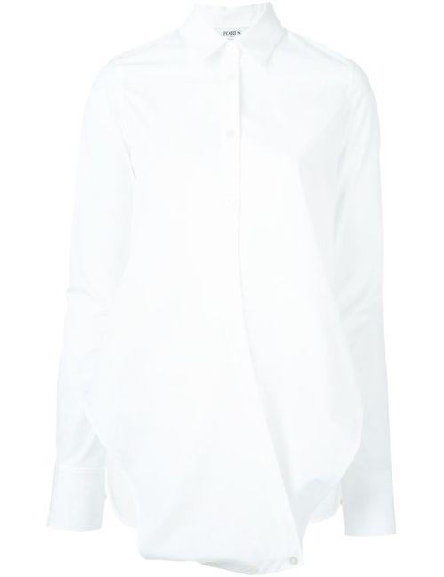 Ports | Женская Белая Удлиненная Рубашка