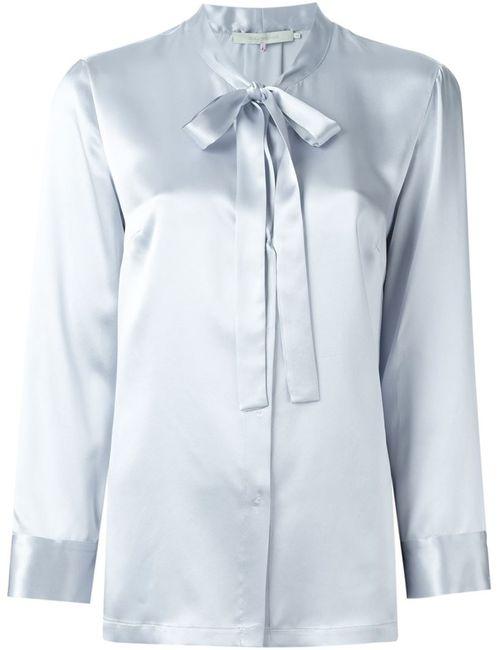 L' Autre Chose | Женская Синяя Блузка С Бантом
