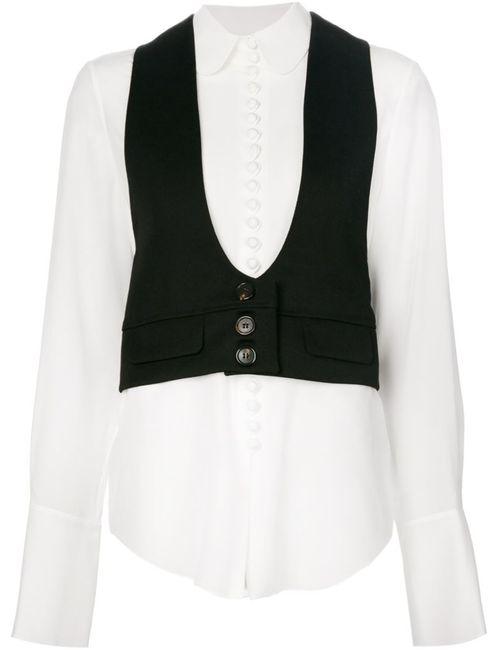 Chloe | Женская Белая Рубашка С Вставкой В Виде Жилет
