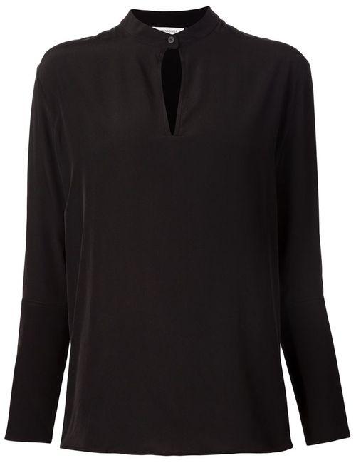 PROTAGONIST | Женская Черный Блузка С Вырезом Замочная Скважина