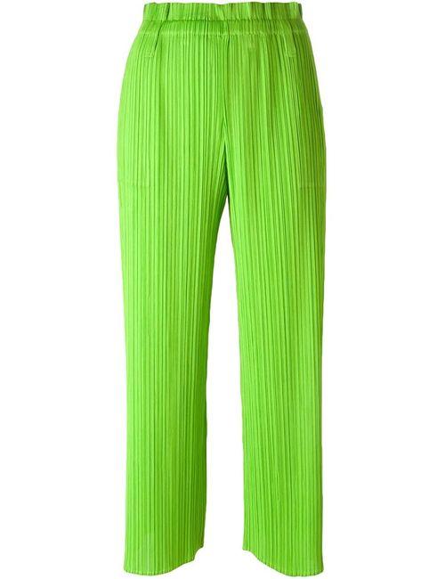 PLEATS PLEASE BY ISSEY MIYAKE | Женские Зелёные Брюки С Гофрированным Дизайном