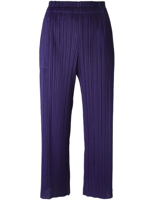 PLEATS PLEASE BY ISSEY MIYAKE | Женское Синий Pleated Cropped Trousers