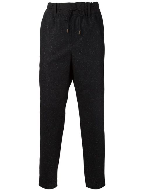 CASELY-HAYFORD | Мужское Чёрный Speckled Straight Leg Trousers