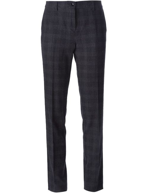 Etro | Женское Черный Checked Slim Fit Trousers