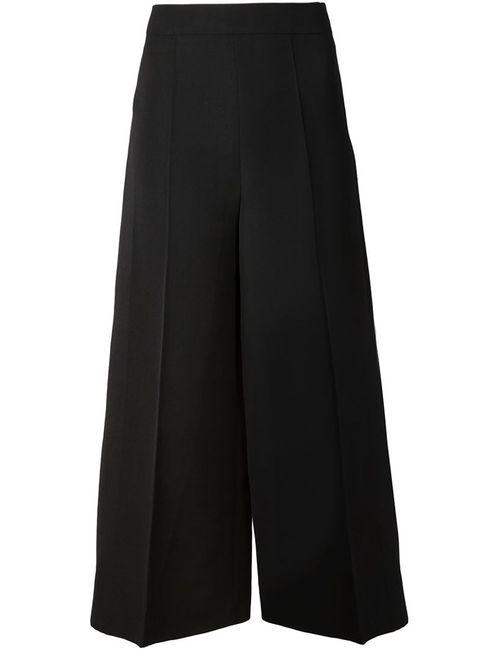 Valentino | Женские Чёрные Широкие Кюлоты