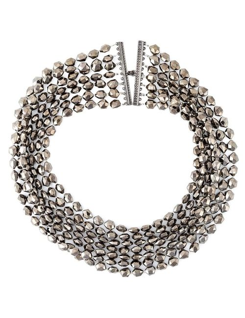 JOZICA | Женское Серебристый Faceted Bead Necklace