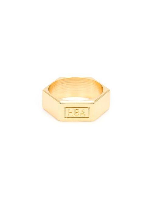 HOOD BY AIR | Мужское Желтый Embossed Logo Ring