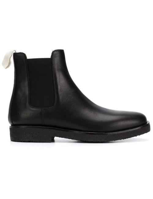 Common Projects | Женские Чёрные Классические Ботинки Челси