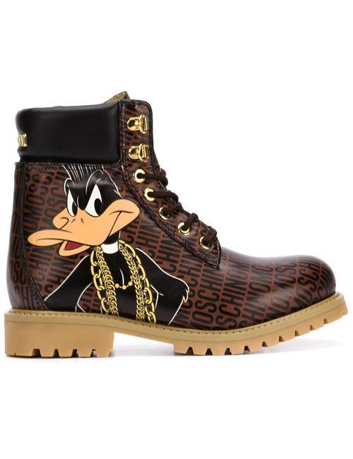 Moschino | Женские Коричневые Треккинговые Ботинки Bugs And Daffy