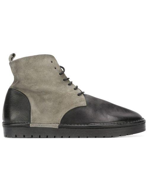 Marsell | Мужская Черный Ботинкни С Панельным Дизайном
