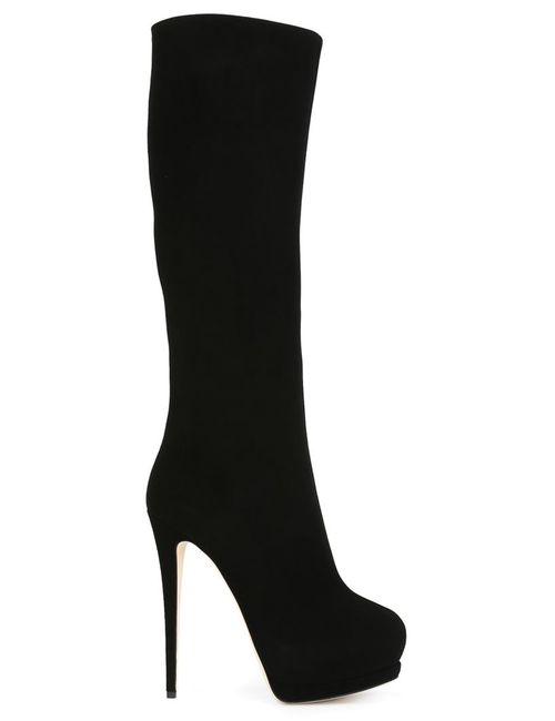 Giuseppe Zanotti Design | Женские Чёрные Высокие Сапоги На Шпильках