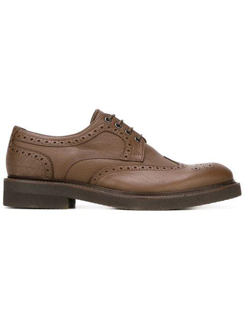 Eleventy | Мужские Коричневые Классические Туфли Оксфорды