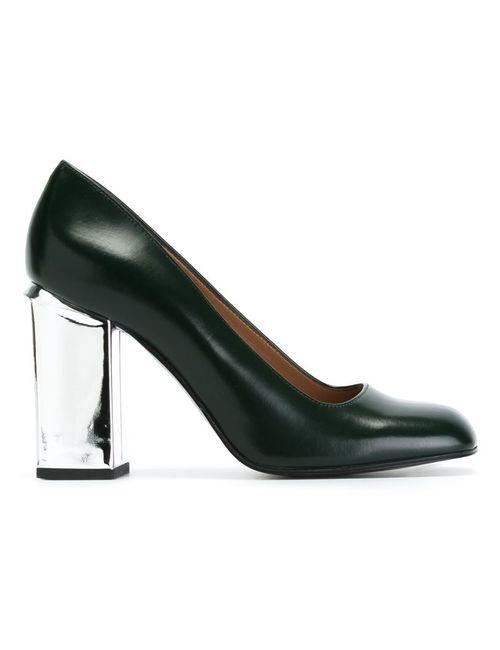 Marni | Женские Зелёные Туфли На Массивном Каблуке
