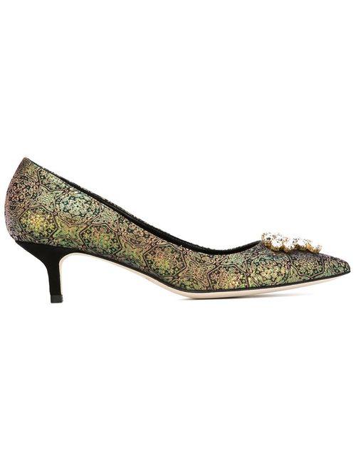 Brian Atwood | Женские Чёрные Декорированные Туфли
