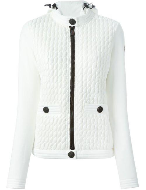 Moncler Grenoble | Женская Белая Фактурная Куртка Из Неопрена