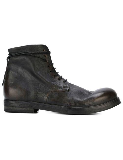 Marsell | Женские Чёрные Ботинки На Шнуровке