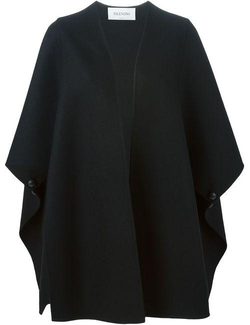 Valentino | Женское Черный Объемное Пальто С Широкими Рукавами