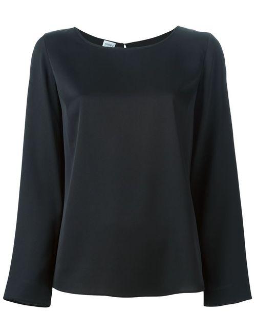 Armani Collezioni | Женская Чёрная Блузка С Длинными Рукавами