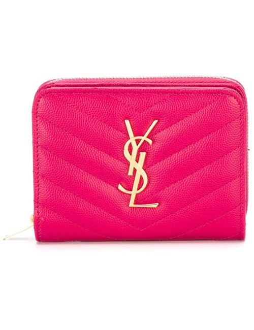 Saint Laurent | Женский Розовый Кошелек Monogram