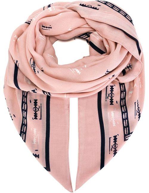 Mcq Alexander Mcqueen | Женское Розовый Negative Razorblade Print Scarf