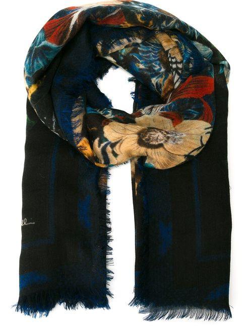Roberto Cavalli | Чёрный Блейзер С Цветочным Принтом