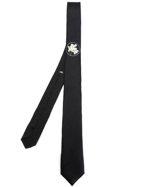 Dior Homme | Мужское Черный Small Flower Print Tie