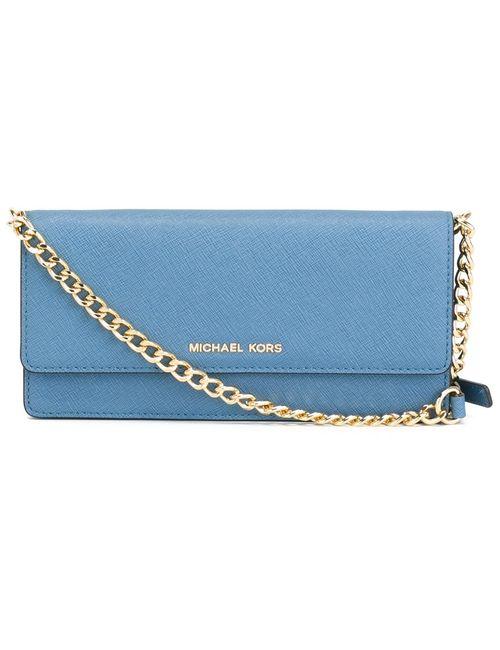 Michael Michael Kors | Женское Синий Jet Set Travel Wallet Crossbody Bag