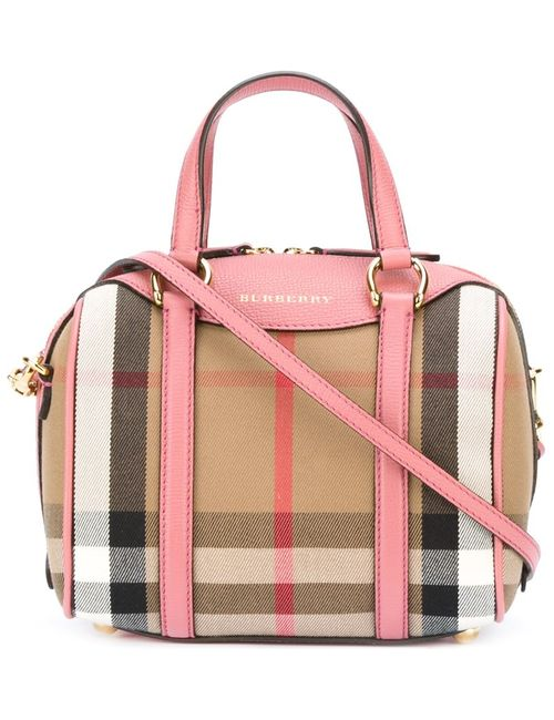 Burberry | Женская Розовая Сумка-Тоут Alchester In House Check T