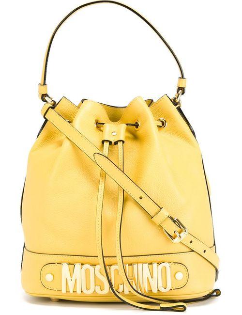 Moschino | Женское Желтый Logo Bucket Tote