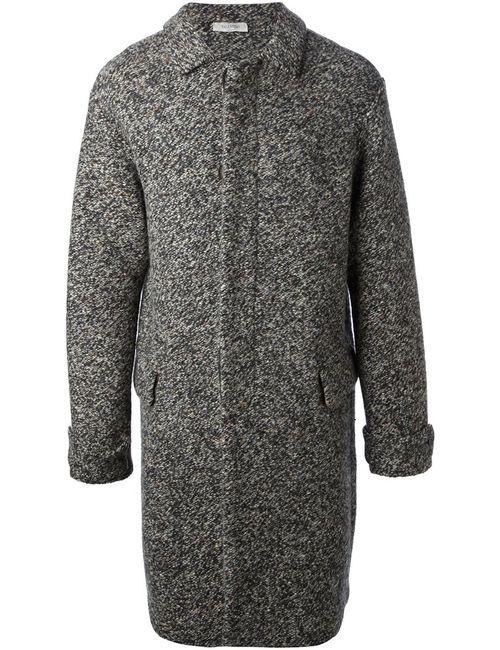 Valentino   Мужское Серое Вязаное Пальто