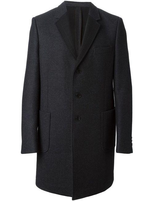 Valentino | Мужское Серое Однобортное Пальто