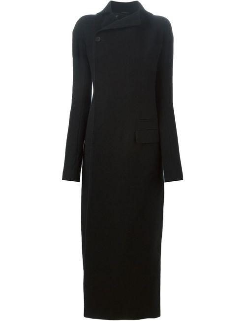 Haider Ackermann | Женское Чёрное Приталенное Пальто С Разрезом