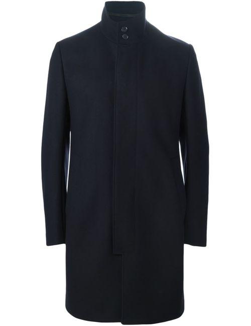 Kenzo | Мужское Синее Палтье С Высоким Воротником