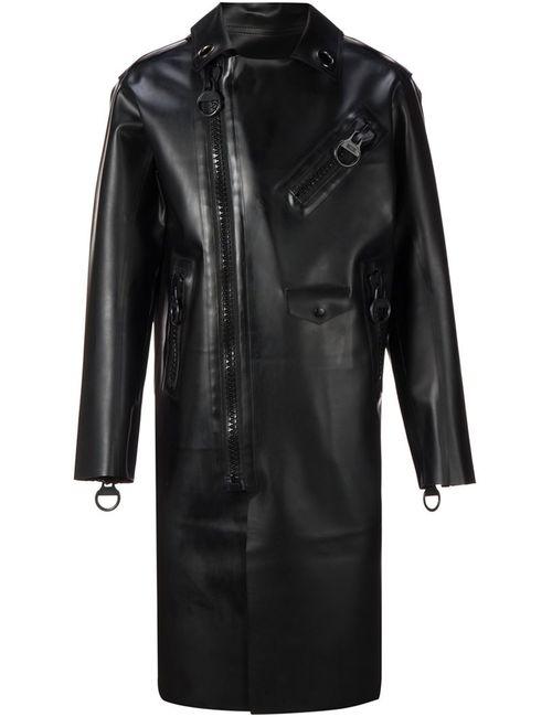 Ktz | Мужское Чёрный Oversized Zip Detail Coat